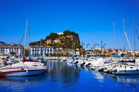 Foto stock: Porta · ilha · montanha · Espanha · cidade · mar