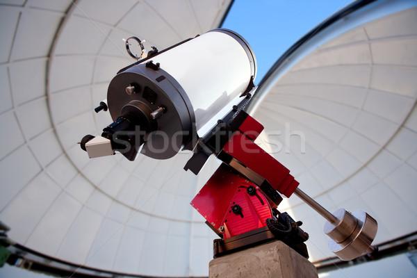 Csillagászati távcső bent kék ég égbolt ablak Stock fotó © lunamarina