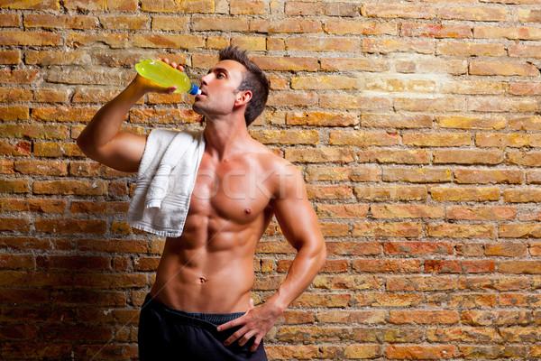 мышцы человека спортзал питьевой Сток-фото © lunamarina
