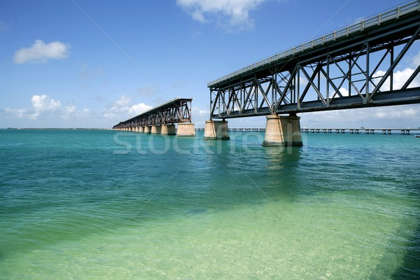 Florida keys broken bridge, turquoise water Stock photo © lunamarina