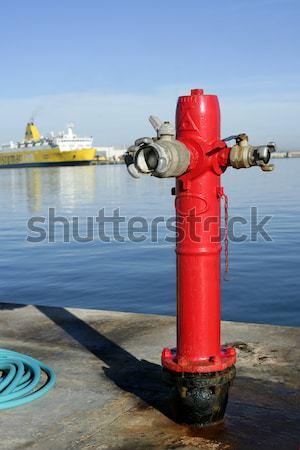 Sea marine hydrant in mediterranean sea Stock photo © lunamarina