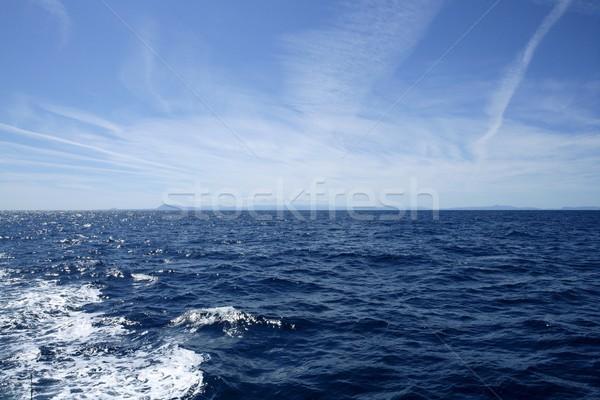 утра Средиземное море синий морской пейзаж Испания Sunshine Сток-фото © lunamarina
