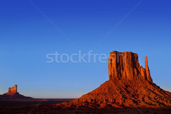 Vallée ouest Utah ciel coucher du soleil nature Photo stock © lunamarina
