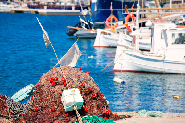 Fishing tackle in Formentera Mediterranean islands Stock photo © lunamarina