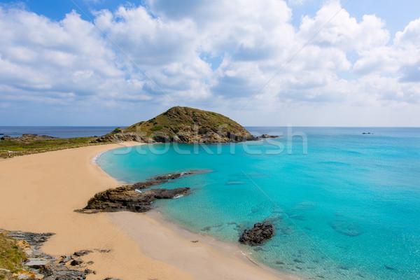 Menorca Cala Sa Mesquida Mao Mahon turquoise beach Stock photo © lunamarina