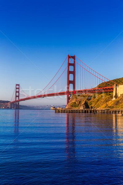 San Francisco Golden Gate Bridge California USA cielo mare Foto d'archivio © lunamarina