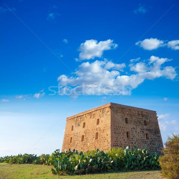 Tabarca island tower Torre de San Jose castle Alicante Stock photo © lunamarina
