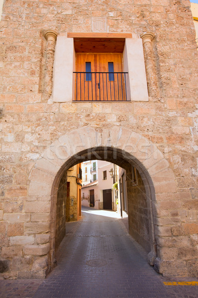 Falu Spanyolország épület építkezés fal ajtó Stock fotó © lunamarina