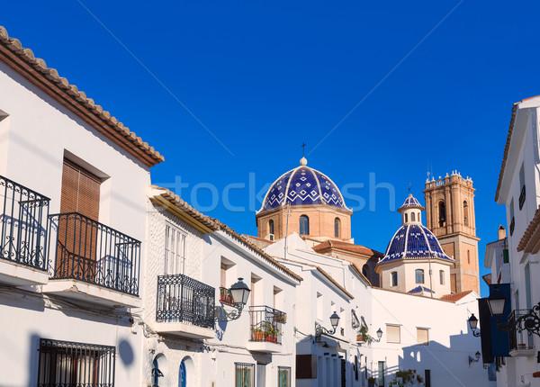 Starych w. kościoła typowy morze Śródziemne wiosną Zdjęcia stock © lunamarina