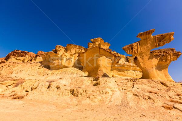 Natureza verão azul rocha solo lama Foto stock © lunamarina