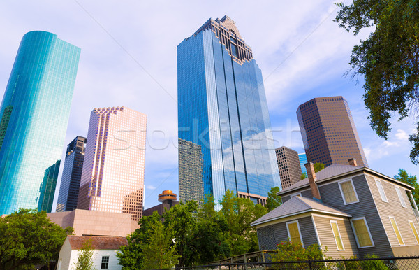 Houston skyline park Texas hemel landschap Stockfoto © lunamarina