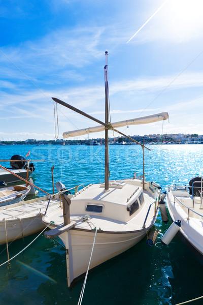 Majorca Porto Colom Felanitx port in mallorca Stock photo © lunamarina