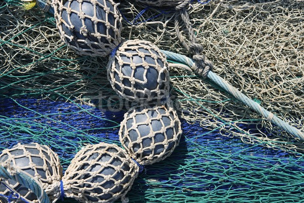 lead balls fishing trawler net tackle Stock photo © lunamarina