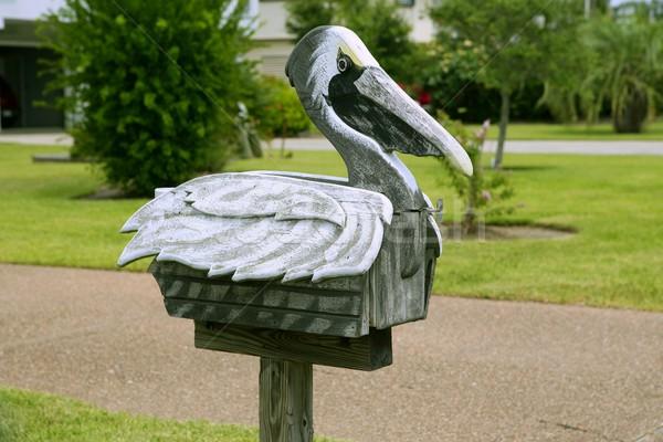 Mail post legno mailbox Texas artistico Foto d'archivio © lunamarina
