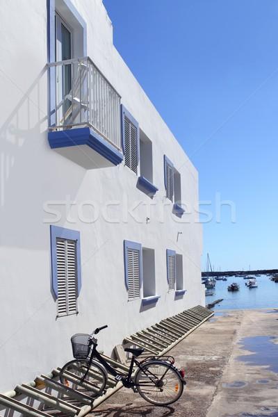 white house bicycle Formentera estany des peix Stock photo © lunamarina