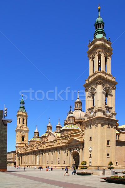 El Pilar Cathedral in Zaragoza city Spain outdoor Stock photo © lunamarina