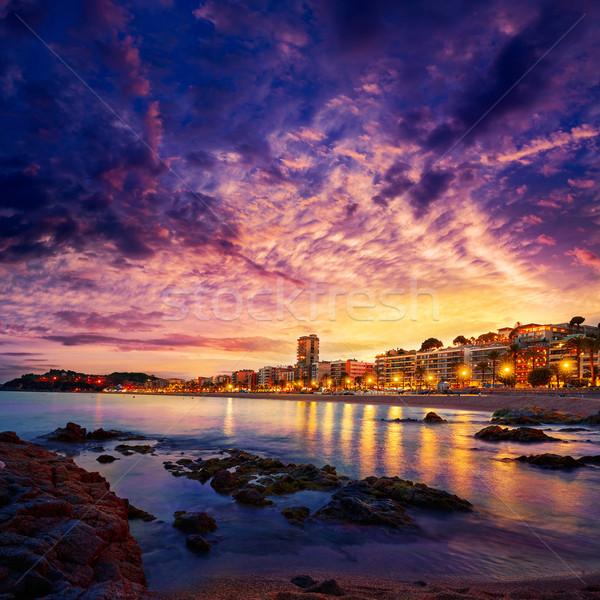 Lloret de Mar sunset at Costa Brava Catalonia Stock photo © lunamarina