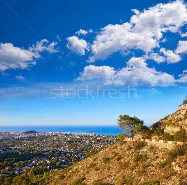 Denia track in Montgo mountain at Alicante Stock photo © lunamarina
