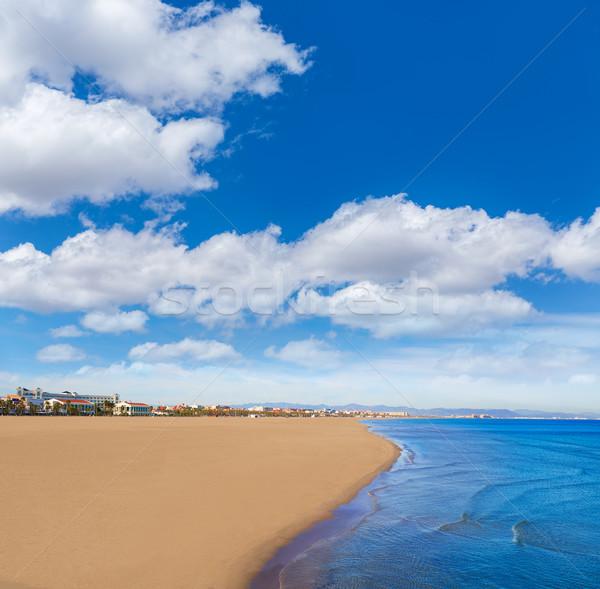 Valencia tengerpart Spanyolország mediterrán tenger víz Stock fotó © lunamarina