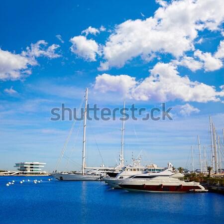 Valencia marina kikötő mediterrán Spanyolország tenger Stock fotó © lunamarina