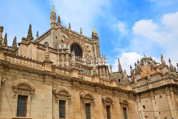 Catedral fachada Espanha cidade viajar pedra Foto stock © lunamarina