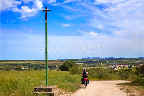 ラ 方法 クロス サンティアゴ スペイン 男 ストックフォト © lunamarina