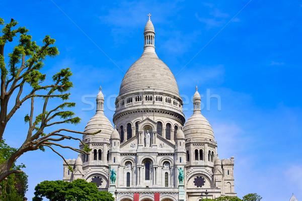 Сток-фото: Монмартр · Париж · Франция · город · синий · городского