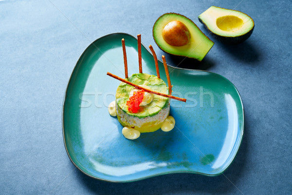 Shrimp Tartare with avocado Peruvian style Stock photo © lunamarina