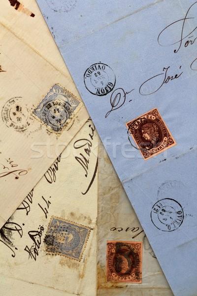 Сток-фото: анонимный · реальный · старые · письма · Испания
