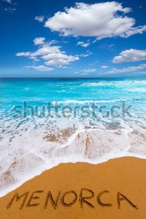 грех Карибы бирюзовый морем пляж берега Сток-фото © lunamarina