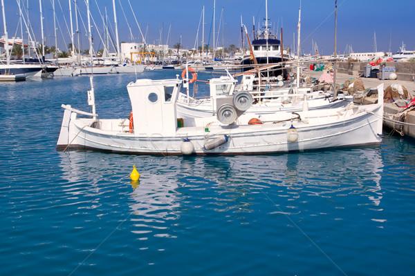 Formentera traditional llaut fisherboats Stock photo © lunamarina