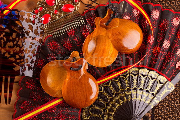 Espana typical from Spain with castanets flamenco elements Stock photo © lunamarina