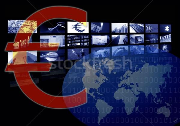 Euro Business corporate image, multiple screen Stock photo © lunamarina