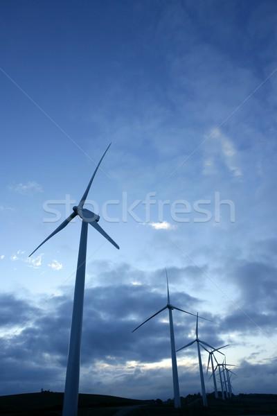Viento ecológico energía eléctrica medio ambiente cielo Foto stock © lunamarina