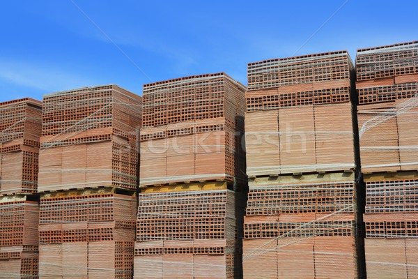 clay red tiles stock pattern texture construction Stock photo © lunamarina