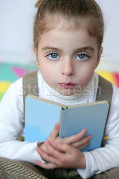 Güzel okul öncesi kız eğitim kitap güzel kız Stok fotoğraf © lunamarina