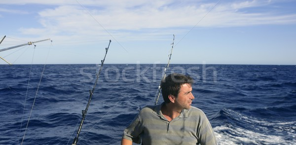 Angler big game saltwater fisher boat Stock photo © lunamarina