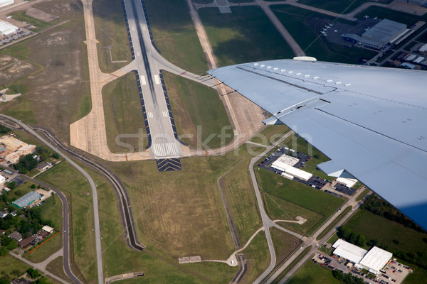 Airport lannding road view from aerial view Stock photo © lunamarina