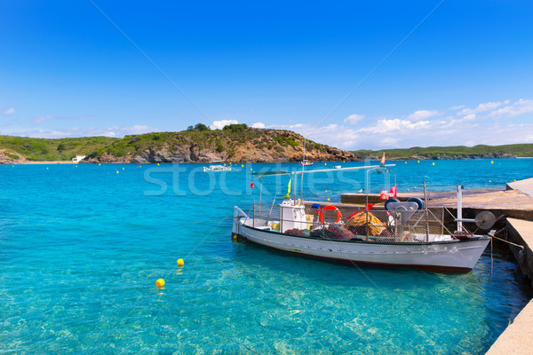Menorca Es Grau clean port with llaut boats in Balearics Stock photo © lunamarina