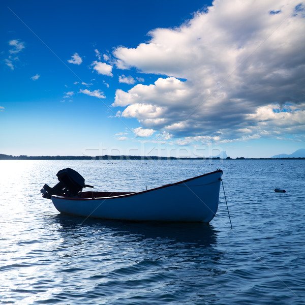 Boat in Estany des Peix at Formentera Balearic Islands Stock photo © lunamarina