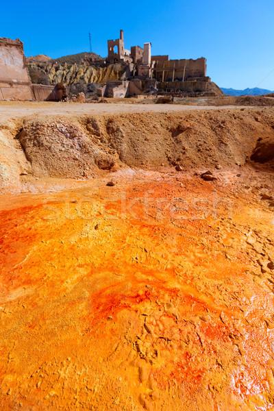 Velho mina Espanha ácido secar lago Foto stock © lunamarina