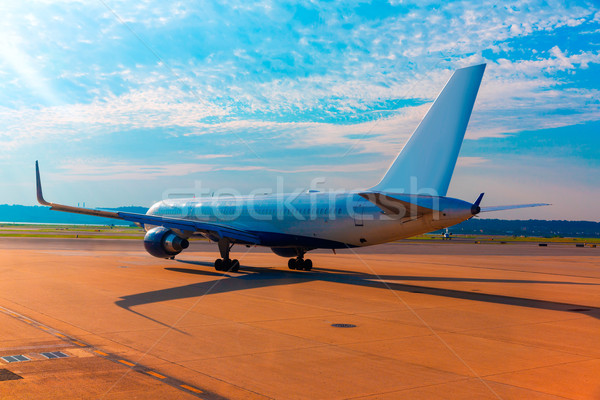 Stock photo: Aircraft in airport preparing to take off