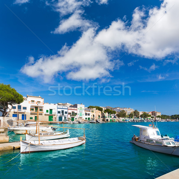 Majorca Porto Colom Felanitx port in mallorca Stock photo © lunamarina