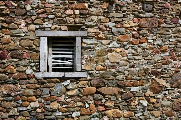 Maçonnerie pierre murs maison bâtiment paysage Photo stock © lunamarina