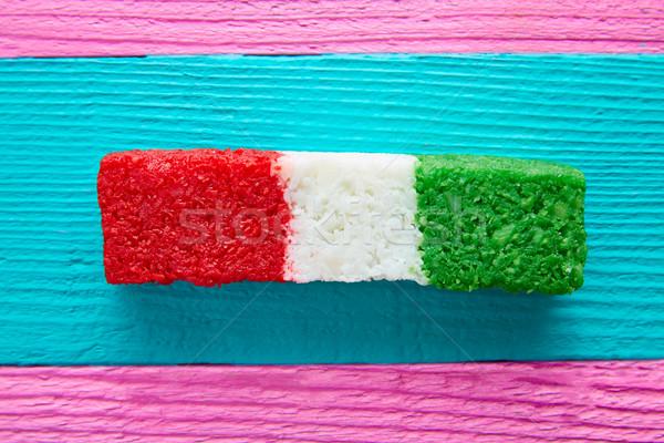 Mexican cocco bandiera candy strisce dolce Foto d'archivio © lunamarina