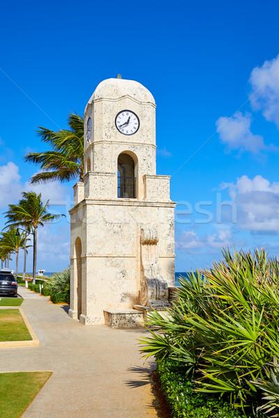 手のひら ビーチ クロック 塔 フロリダ ストックフォト © lunamarina