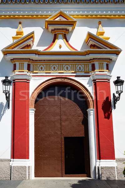 Guillena church on the via de la Plata way spain Stock photo © lunamarina