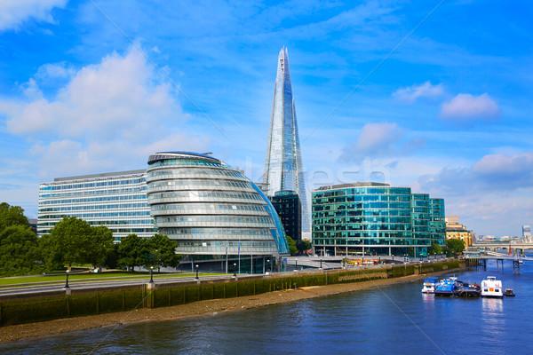 Londra skyline città sala thames fiume Foto d'archivio © lunamarina