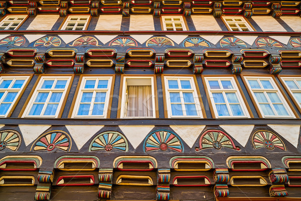 Stolberg carved wood facades in Harz Germany Stock photo © lunamarina