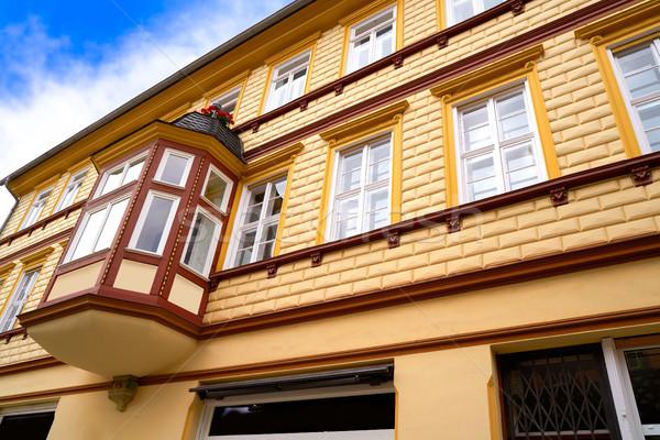 ドイツ 市 壁 青 旅行 山 ストックフォト © lunamarina